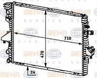 Радиатор VW Transporter T5 03-> 1.9 TDI (плоские соты) 7H0121253F