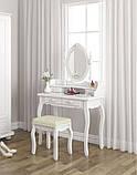 Косметичний столик з похилим дзеркалом і пуфом, фото 7