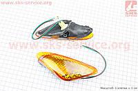 Yamaha JOG ARTISTIC повороты передние в сборе к-кт 2шт (желтые)