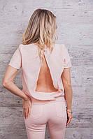 Модная женская летняя блуза с коротким рукавом в расцветках