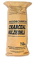 Уголь древесный, в мешках по 10 кг