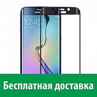 Цветное защитное стекло на весь экран для Samsung S7 Edge (Самсунг с7 эдж, с 7 эдж)