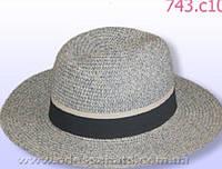 Мужская летняя шляпа цвет темно серый
