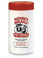 Салфетки 8 in 1 Nature's Miracle для собак очищающие, 70 шт