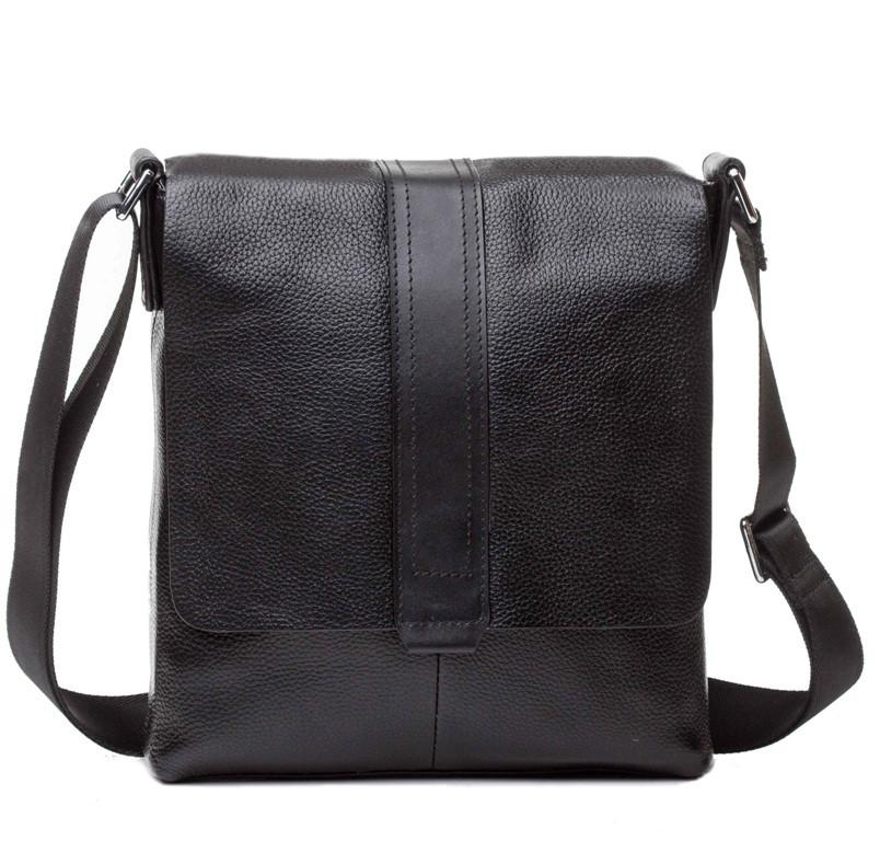 Мужская черная сумка через плечо M2837A