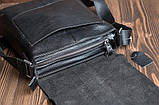 Мужская черная сумка через плечо M2837A, фото 6