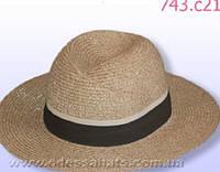 Коричневая мужская летняя шляпа