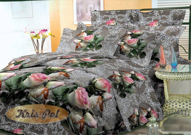 Постельное бельё полуторное 150*220 хлопок (4288) TM KRISPOL Украина, фото 2