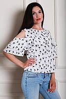 Молодежная блуза в модный принт