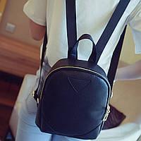 Рюкзак женский мини с треугольником (черный), фото 1
