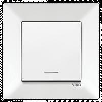 Выключатель с подсветкой Viko Meridian белый