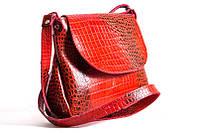 Женская кожаная сумка через плечо 05 KJ Красная