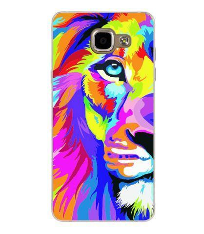 Оригинальный чехол панель накладка для Samsung A7 - 2016 Galaxy A710 с картинкой Цветной лев
