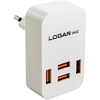 Зарядное устройство LOGAN Quad USB Wall Charger 5V 4A (CH-4 White)