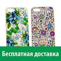 Чехол-бампер c картинкой Cath Kidston для iPhone 5/5s (со стразами) (Айфон 5, 5с, 5 с, 5 се)
