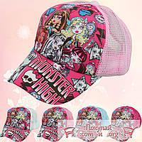 Летние кепки для девочек Школа монстров (объём 53- 54 см) (vti103)