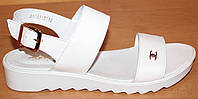Белые женские кожаные босоножки, босоножки женские кожа от производителя модель ВЛ1703Б