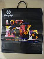 """Пакет с петлевой пластиковой ручкой 43*39 """"Love"""""""
