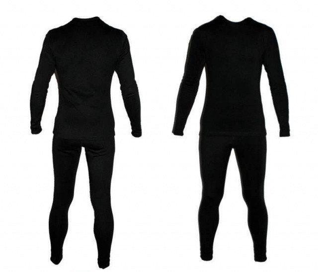 Термобілизна флісова чорна (штани + реглан) / Level II