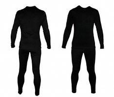 Термобелье флисовое черное (брюки+реглан)/ Level II