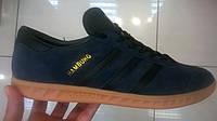 Мужские кроссовки Adidas Hamburg синие с черным, размеры с 41 по 45