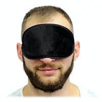 Черная маска, повязка на глаза для сна, для игры Мафия