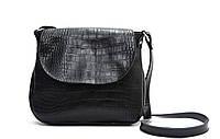 Женская кожаная сумка через плечо 05 HJ Черная