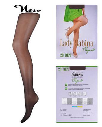 Колготки Lady Sabina 20 den Elegant Nero р.2 (LS20El) | 5 шт., фото 2