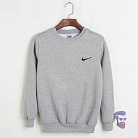 Мужская спортивная кофта Найк (Nike), мужской трикотажный свитшот, (на флисе и без) копия