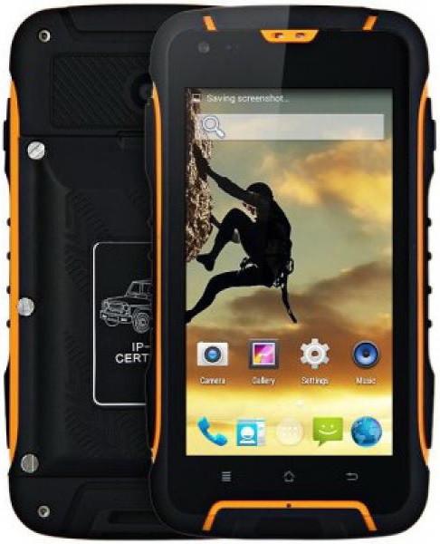"""Jeep F605 PRO black-orange IP68 2/16Gb, 4.5"""", MT6572М, 12000mAh, 3G"""