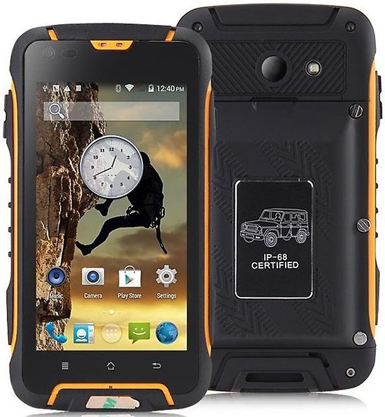 "Jeep F605 PRO black-yellow IP68 2/16Gb, 4.5"", MT6572М, 12000mAh, 3G"