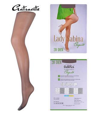 Колготки Lady Sabina 20 den Elegant Аntracite р.2 (LS20El) | 5 шт., фото 2