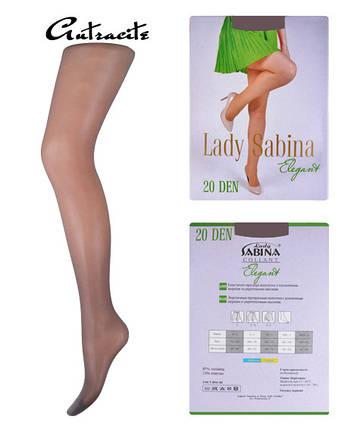 Колготки Lady Sabina 20 den Elegant Аntracite р.4 (LS20El)   5 шт., фото 2