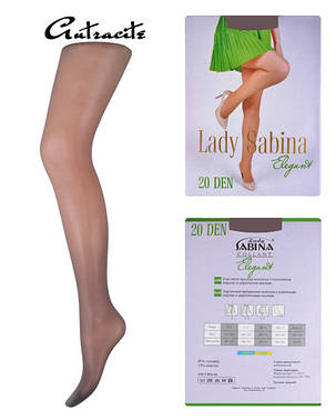 Колготки Lady Sabina 20 den Elegant Аntracite р.4 (LS20El) | 5 шт., фото 2