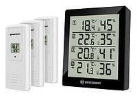 Незаменимый бытовой термометр-гигрометр Temeo Hygro Quadro black/черный Bresser 923261.
