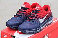 Кроссовки Nike Air Max 2017 темно синие с красным 2047