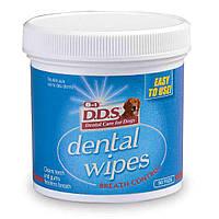 Салфетки 8 in 1 Dental Wipes для очищения зубов собак, 90 шт