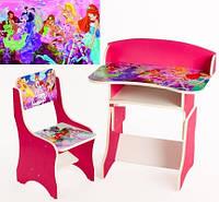 """*Набор мебели - Парта и стульчик """"Winx"""" арт. 112"""