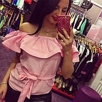 Блуза женская Ирма розовая , женская одежда