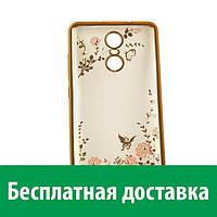 Чехол-бампер TPU с цветочным узором для Xiaomi Redmi Note 3 (Сяоми (Ксиаоми, Хиаоми) Редми Ноте 3, Редми Ноте 3 про, Редми Ноут 3, Редми Ноут 3 про)