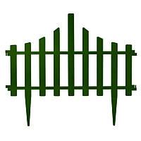 Заборчик садовый зеленый (4 секции по 65 см)