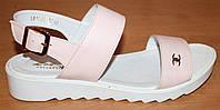 Женские кожаные босоножки розовые, босоножки женские кожа от производителя модель ВЛ1703Р