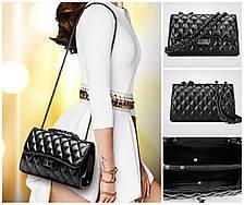 Женская сумка через плечо классическая на металлической цепочке