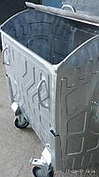 Евроконтейнер для сбора мусора 1,1 м.куб., металл оцинкованный, Киев, доставка по Украине