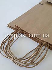 Пакет бумажный с печатью 2 цвета 250х150х350, фото 3