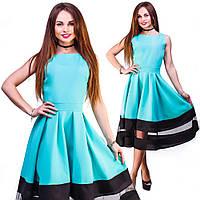 Женское вечернее платье миди, сзади змейка, ткань габардин. Разные цвета и размеры. Розница и опт в Украине.