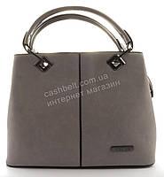Стильная  вместительная женская прочная сумка art. 140 светло серый
