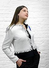 Женский пиджак белый брендовый Италия Monica Ricci