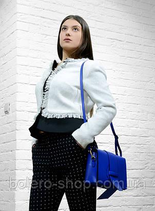 Женский пиджак белый брендовый Италия Monica Ricci, фото 2