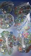 Камушки декоративные глянцевые круглые разноцветные